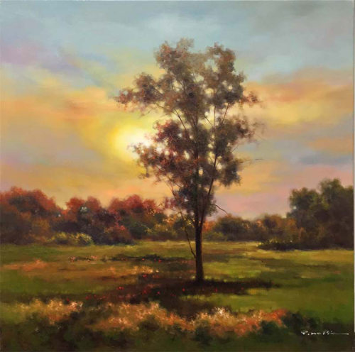 """A New Day by Pan Mossi at Art Leaders Gallery, voted """"Michigan's Best Fine Art Gallery"""" is located in the heart of West Bloomfield. This full service fine art gallery is the destination for all your art and custom picture framing needs. Our extensive inventory of art includes styles ranging from contemporary to traditional. The gallery represents international, national, and emerging new talent as well as local Michigan artists."""