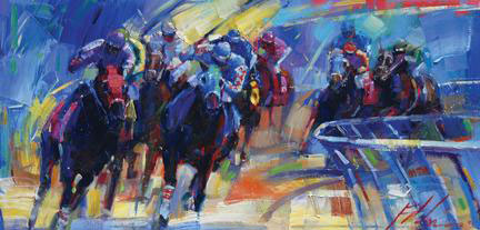 "Across the Board by Michael Flohr at Art Leaders Gallery, voted ""Michigan's Best Fine Art Gallery"" is located in the heart of West Bloomfield. This full service fine art gallery is the destination for all your art and custom picture framing needs. Our extensive inventory of art includes styles ranging from contemporary to traditional. The gallery represents international, national, and emerging new talent as well as local Michigan artists."