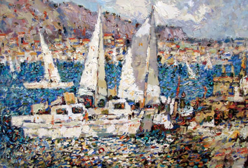 """Afternoon Sailing"" by Konstantin Savchenko at Art Leaders Gallery, voted ""Michigan's Best Fine Art Gallery"" is located in the heart of West Bloomfield. This full service fine art gallery is the destination for all your art and custom picture framing needs. Our extensive inventory of art includes styles ranging from contemporary to traditional. The gallery represents international, national, and emerging new talent as well as local Michigan artists."