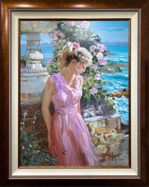 Figurative Oil Painting of a Seascape and Figure