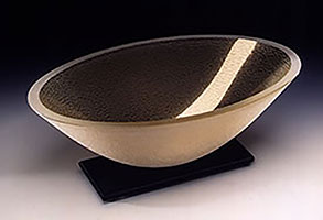 Artifact Oval Bowl by Stephen Schlanser at Art Leaders Gallery - Michigan's Finest Art Gallery