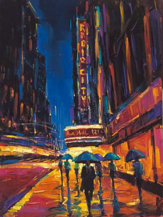 "Big City of Dreams by Michael Flohr at Art Leaders Gallery, voted ""Michigan's Best Fine Art Gallery"" is located in the heart of West Bloomfield. This full service fine art gallery is the destination for all your art and custom picture framing needs. Our extensive inventory of art includes styles ranging from contemporary to traditional. The gallery represents international, national, and emerging new talent as well as local Michigan artists."