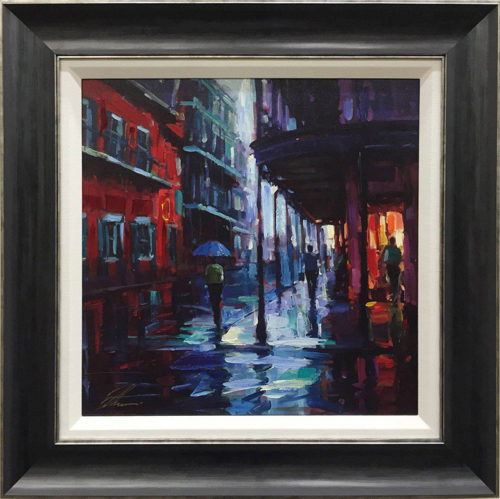 "Bourbon Street by Michael Flohr at Art Leaders Gallery, voted ""Michigan's Best Fine Art Gallery"" is located in the heart of West Bloomfield. This full service fine art gallery is the destination for all your art and custom picture framing needs. Our extensive inventory of art includes styles ranging from contemporary to traditional. The gallery represents international, national, and emerging new talent as well as local Michigan artists."