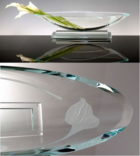 Calla Long Oval Bowl by Stephen Schlanser at Art Leaders Gallery - Michigan's Finest Art Gallery