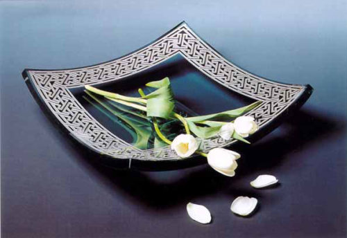 Celtic Square Platter by Stephen Schlanser at Art Leaders Gallery - Michigan's Finest Art Gallery