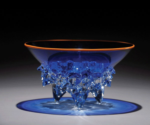 """Cobalt Low Thorn Bowl by Andrew Madvin at Art Leaders Gallery, voted """"Michigan's Best Fine Art Gallery"""" is located in the heart of West Bloomfield. This full service fine art gallery is the destination for all your art and custom picture framing needs. Our extensive inventory of art includes styles ranging from contemporary to traditional. The gallery represents international, national, and emerging new talent as well as local Michigan artists."""