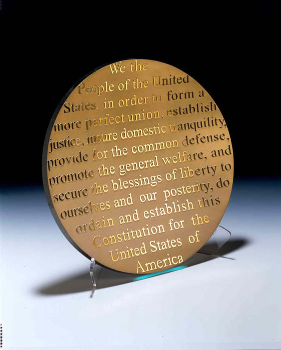 Constitution Platter by Stephen Schlanser at Art Leaders Gallery - Michigan's Finest Art Gallery