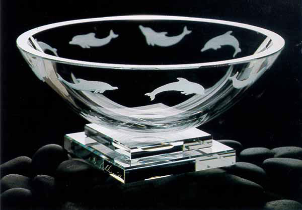 Dolphin Bowl by Stephen Schlanser at Art Leaders Gallery - Michigan's Finest Art Gallery