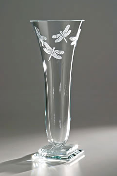 Dragonfly Vase by Stephen Schlanser at Art Leaders Gallery - Michigan's Finest Art Gallery