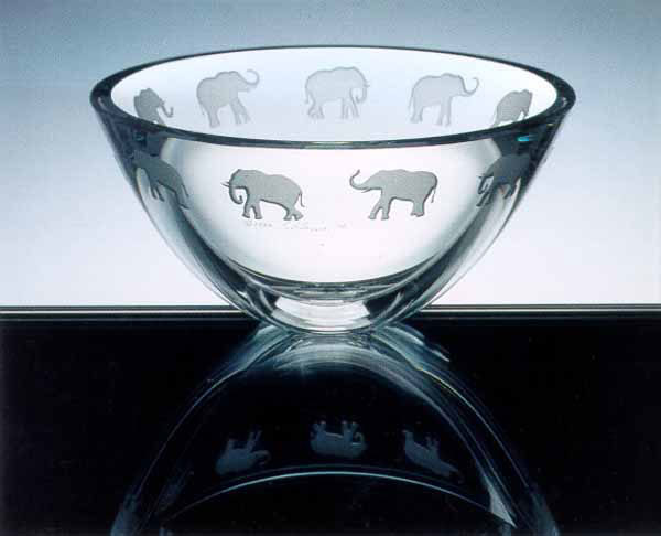 Elephant Bowl by Stephen Schlanser at Art Leaders Gallery - Michigan's Finest Art Gallery