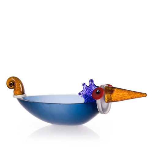 """""""Ente"""" in Blue by Borowski Glass Studio. Art Leaders Gallery, voted """"Michigan's Best Fine Art Gallery"""" is located in the heart of West Bloomfield. This full service fine art gallery is the destination for all your art and custom picture framing needs. Our extensive inventory of art includes styles ranging from contemporary to traditional. The gallery represents international, national, and emerging new talent as well as local Michigan artists."""