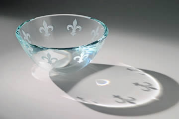 Fleur De Lis Bowl by Stephen Schlanser at Art Leaders Gallery - Michigan's Finest Art Gallery