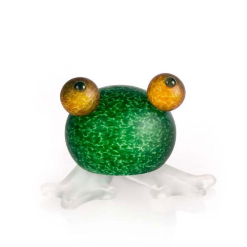 """Frosch/Frog"" Dark Green by Borowski Glass Studio. Art Leaders Gallery, voted ""Michigan's Best Fine Art Gallery"" is located in the heart of West Bloomfield. This full service fine art gallery is the destination for all your art and custom picture framing needs. Our extensive inventory of art includes styles ranging from contemporary to traditional. The gallery represents international, national, and emerging new talent as well as local Michigan artists."
