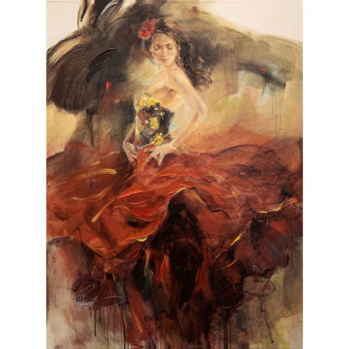 """Giro II"" by Anna Razumovskaya at Art Leaders Gallery, voted ""Michigan's Best Fine Art Gallery"" is located in the heart of West Bloomfield. This full service fine art gallery is the destination for all your art and custom picture framing needs. Our extensive inventory of art includes styles ranging from contemporary to traditional. The gallery represents international, national and emerging new talent as well as local Michigan artists."