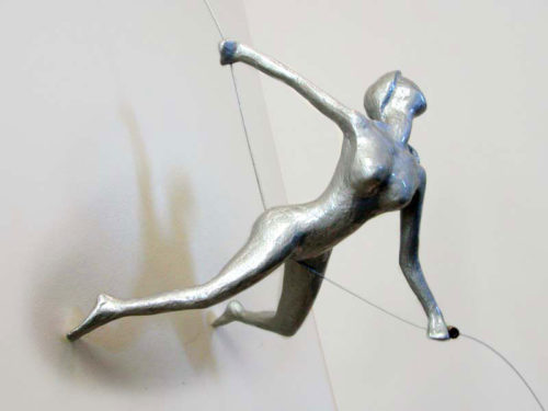 """Item #32: Colorful Female Climber Stretching Away from Wall by Ancizar Marin at Art Leaders Gallery, voted """"Michigan's Best Fine Art Gallery"""" is located in the heart of West Bloomfield. This full service fine art gallery is the destination for all your art and custom picture framing needs. Our extensive inventory of art includes styles ranging from contemporary to traditional. The gallery represents international, national, and emerging new talent as well as local Michigan artists."""