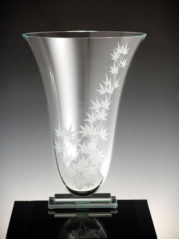 Japanese Maple Oval Vase by Stephen Schlanser at Art Leaders Gallery - Michigan's Finest Art Gallery