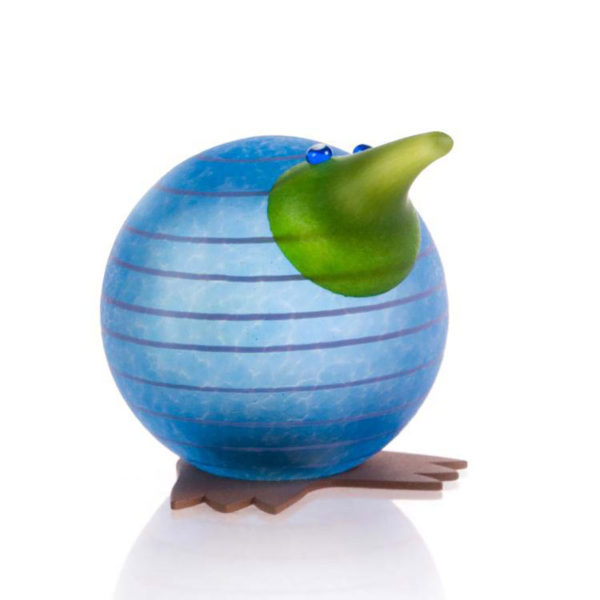 """Kiwi Paperweight"" in Blue by Borowski Glass Studio. Art Leaders Gallery, voted ""Michigan's Best Fine Art Gallery"" is located in the heart of West Bloomfield. This full service fine art gallery is the destination for all your art and custom picture framing needs. Our extensive inventory of art includes styles ranging from contemporary to traditional. The gallery represents international, national, and emerging new talent as well as local Michigan artists."