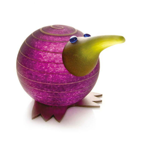 """Kiwi Paperweight"" in Purple by Borowski Glass Studio. Art Leaders Gallery, voted ""Michigan's Best Fine Art Gallery"" is located in the heart of West Bloomfield. This full service fine art gallery is the destination for all your art and custom picture framing needs. Our extensive inventory of art includes styles ranging from contemporary to traditional. The gallery represents international, national, and emerging new talent as well as local Michigan artists."