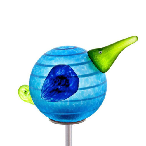"""Kiwi Stick"" in Blue in Blue by Borowski Glass Studio. Art Leaders Gallery, voted ""Michigan's Best Fine Art Gallery"" is located in the heart of West Bloomfield. This full service fine art gallery is the destination for all your art and custom picture framing needs. Our extensive inventory of art includes styles ranging from contemporary to traditional. The gallery represents international, national, and emerging new talent as well as local Michigan artists."