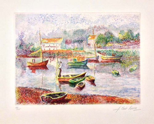 "L'Embarcadere by H. Claude Pissarro at Art Leaders Gallery, voted ""Michigan's Best Fine Art Gallery"" is located in the heart of West Bloomfield. This full service fine art gallery is the destination for all your art and custom picture framing needs. Our extensive inventory of art includes styles ranging from contemporary to traditional. The gallery represents international, national, and emerging new talent as well as local Michigan artists."