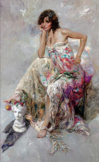 "La Guapa by Jose Royo at Art Leaders Gallery, voted ""Michigan's Best Fine Art Gallery"" is located in the heart of West Bloomfield. This full service fine art gallery is the destination for all your art and custom picture framing needs. Our extensive inventory of art includes styles ranging from contemporary to traditional. The gallery represents international, national and emerging new talent as well as local Michigan artists."
