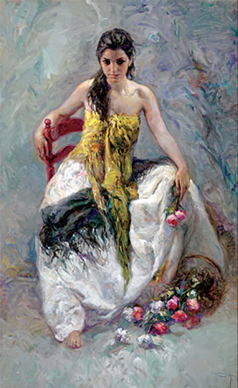 "La Lozana by Jose Royo at Art Leaders Gallery, voted ""Michigan's Best Fine Art Gallery"" is located in the heart of West Bloomfield. This full service fine art gallery is the destination for all your art and custom picture framing needs. Our extensive inventory of art includes styles ranging from contemporary to traditional. The gallery represents international, national and emerging new talent as well as local Michigan artists."