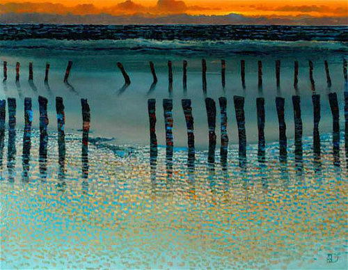 "Low Tide by Ton Dubbeldam at Art Leaders Gallery, voted ""Michigan's Best Fine Art Gallery"" is located in the heart of West Bloomfield. This full service fine art gallery is the destination for all your art and custom picture framing needs. Our extensive inventory of art includes styles ranging from contemporary to traditional. The gallery represents international, national, and emerging new talent as well as local Michigan artists."