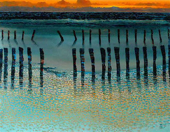 """Low Tide by Ton Dubbeldam at Art Leaders Gallery, voted """"Michigan's Best Fine Art Gallery"""" is located in the heart of West Bloomfield. This full service fine art gallery is the destination for all your art and custom picture framing needs. Our extensive inventory of art includes styles ranging from contemporary to traditional. The gallery represents international, national, and emerging new talent as well as local Michigan artists."""