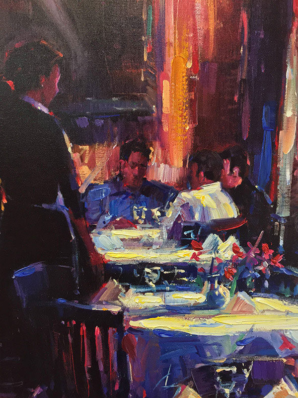 """Lunch with Degas by Michael Flohr at Art Leaders Gallery, voted """"Michigan's Best Fine Art Gallery"""" is located in the heart of West Bloomfield. This full service fine art gallery is the destination for all your art and custom picture framing needs. Our extensive inventory of art includes styles ranging from contemporary to traditional. The gallery represents international, national, and emerging new talent as well as local Michigan artists."""