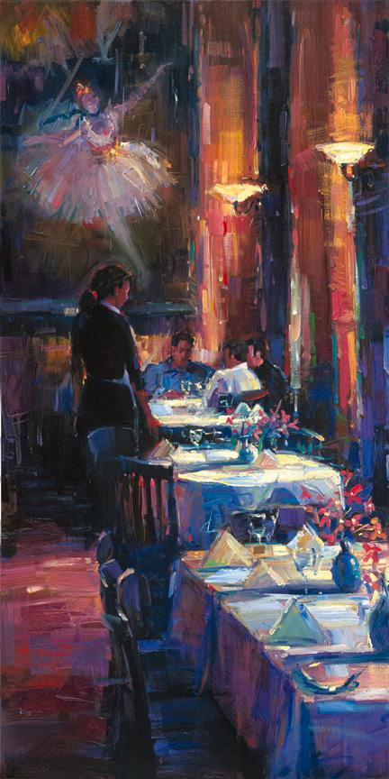 "Lunch with Degas by Michael Flohr at Art Leaders Gallery, voted ""Michigan's Best Fine Art Gallery"" is located in the heart of West Bloomfield. This full service fine art gallery is the destination for all your art and custom picture framing needs. Our extensive inventory of art includes styles ranging from contemporary to traditional. The gallery represents international, national, and emerging new talent as well as local Michigan artists."
