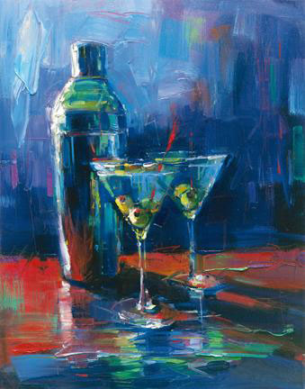 "Martini for Two by Michael Flohr at Art Leaders Gallery, voted ""Michigan's Best Fine Art Gallery"" is located in the heart of West Bloomfield. This full service fine art gallery is the destination for all your art and custom picture framing needs. Our extensive inventory of art includes styles ranging from contemporary to traditional. The gallery represents international, national, and emerging new talent as well as local Michigan artists."