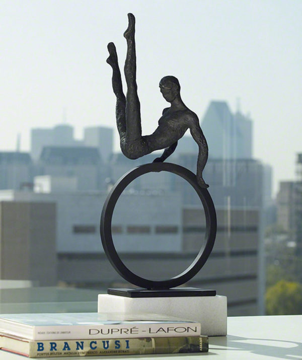 """Modern Gymnast Sculpture – 8.80333"" by Global Views Studio at Art Leaders Gallery, voted ""Michigan's Best Fine Art Gallery"" is located in the heart of West Bloomfield. This full service fine art gallery is the destination for all your art and custom picture framing needs. Our extensive inventory of art includes styles ranging from contemporary to traditional. The gallery represents international, national, and emerging new talent as well as local Michigan artists."