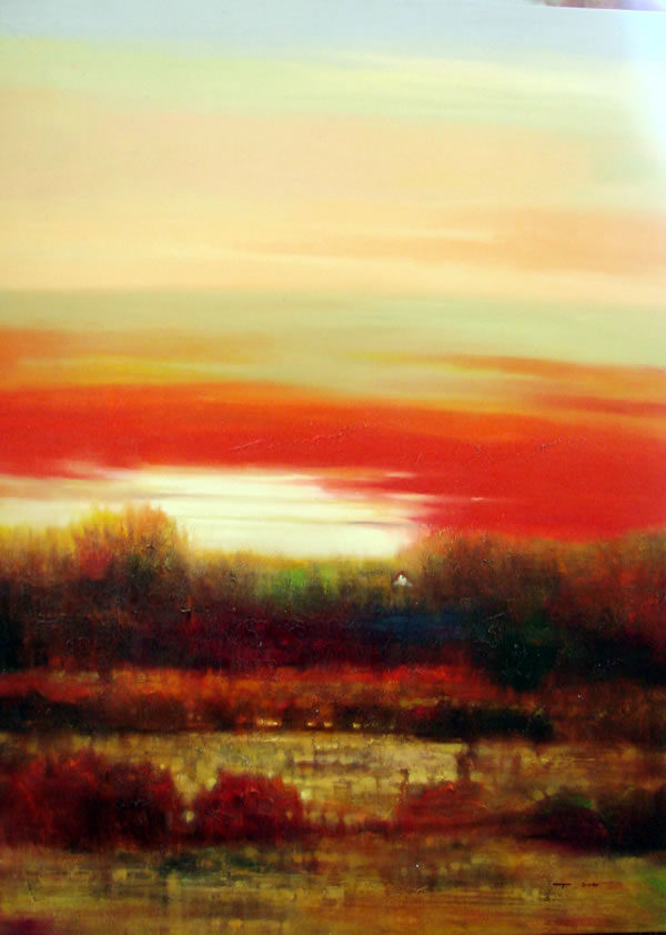 """New Horizon I by Roger Swan at Art Leaders Gallery, voted """"Michigan's Best Fine Art Gallery"""" is located in the heart of West Bloomfield. This full service fine art gallery is the destination for all your art and custom picture framing needs. Our extensive inventory of art includes styles ranging from contemporary to traditional. The gallery represents international, national, and emerging new talent as well as local Michigan artists."""