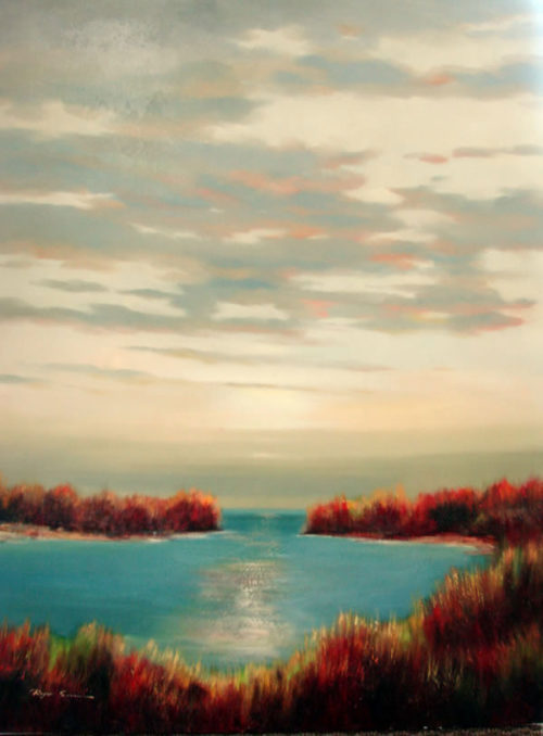 "New Horizon III by Roger Swan at Art Leaders Gallery, voted ""Michigan's Best Fine Art Gallery"" is located in the heart of West Bloomfield. This full service fine art gallery is the destination for all your art and custom picture framing needs. Our extensive inventory of art includes styles ranging from contemporary to traditional. The gallery represents international, national, and emerging new talent as well as local Michigan artists."