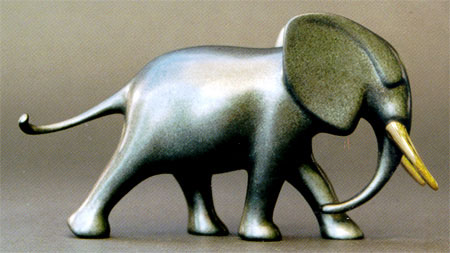 "Noah's Elephant Sculpture 415 by Loet Vanderveen at Art Leaders Gallery, voted ""Michigan's Best Fine Art Gallery"" is located in the heart of West Bloomfield. This full service fine art gallery is the destination for all your art and custom picture framing needs. Our extensive inventory of art includes styles ranging from contemporary to traditional. The gallery represents international, national and emerging new talent as well as local Michigan artists."