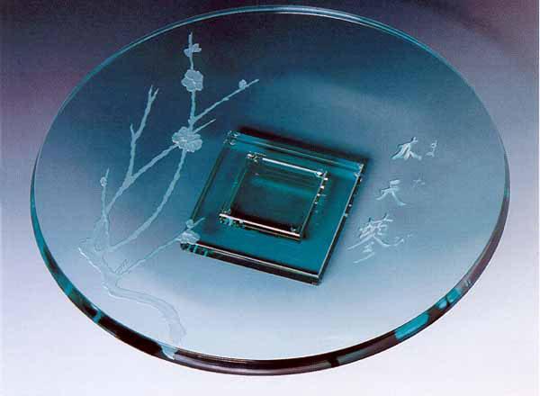 Pacific Branch Platter by Stephen Schlanser at Art Leaders Gallery - Michigan's Finest Art Gallery