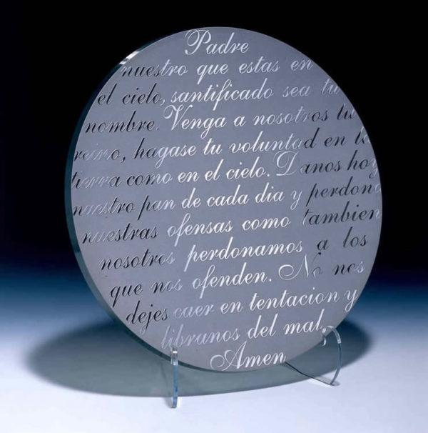 Padre Nuestro Platter by Stephen Schlanser at Art Leaders Gallery - Michigan's Finest Art Gallery