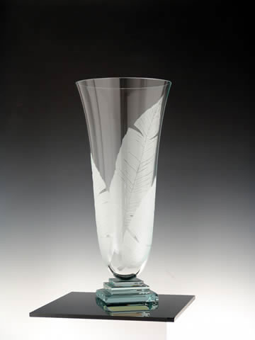 Plantain Vase by Stephen Schlanser at Art Leaders Gallery - Michigan's Finest Art Gallery