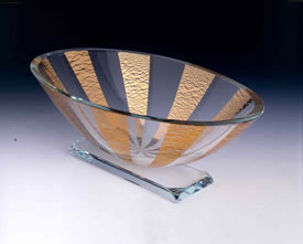 Renaissance Oval Bowl by Stephen Schlanser at Art Leaders Gallery - Michigan's Finest Art Gallery
