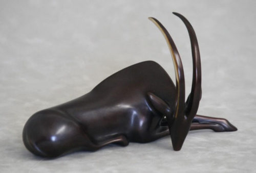 """Sable Antelope Sculpture 111 by Loet Vanderveen at Art Leaders Gallery, voted """"Michigan's Best Fine Art Gallery"""" is located in the heart of West Bloomfield. This full service fine art gallery is the destination for all your art and custom picture framing needs. Our extensive inventory of art includes styles ranging from contemporary to traditional. The gallery represents international, national and emerging new talent as well as local Michigan artists."""