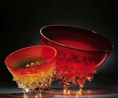 Saffron Thorn Bowl by Andrew Madvin at Art Leaders Gallery - Michigan's Finest Art Gallery