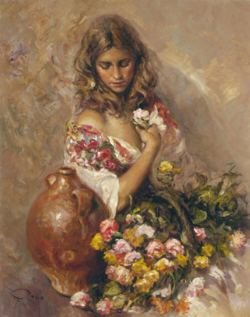 "Sentimiento by Jose Royo at Art Leaders Gallery, voted ""Michigan's Best Fine Art Gallery"" is located in the heart of West Bloomfield. This full service fine art gallery is the destination for all your art and custom picture framing needs. Our extensive inventory of art includes styles ranging from contemporary to traditional. The gallery represents international, national and emerging new talent as well as local Michigan artists."