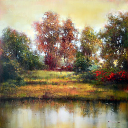 "September Color Change by F. Cono at Art Leaders Gallery, voted ""Michigan's Best Fine Art Gallery"" is located in the heart of West Bloomfield. This full service fine art gallery is the destination for all your art and custom picture framing needs. Our extensive inventory of art includes styles ranging from contemporary to traditional. The gallery represents international, national, and emerging new talent as well as local Michigan artists."