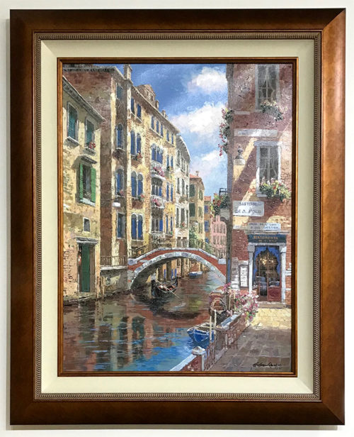 "Sestiere di San Polo by S. Sam Park at Art Leaders Gallery, voted ""Michigan's Best Fine Art Gallery"" is located in the heart of West Bloomfield. This full service fine art gallery is the destination for all your art and custom picture framing needs. Our extensive inventory of art includes styles ranging from contemporary to traditional. The gallery represents international, national and emerging new talent as well as local Michigan artists."