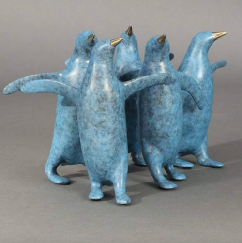 """Small Penguin Group Sculpture 377 by Loet Vanderveen at Art Leaders Gallery, voted """"Michigan's Best Fine Art Gallery"""" is located in the heart of West Bloomfield. This full service fine art gallery is the destination for all your art and custom picture framing needs. Our extensive inventory of art includes styles ranging from contemporary to traditional. The gallery represents international, national and emerging new talent as well as local Michigan artists."""