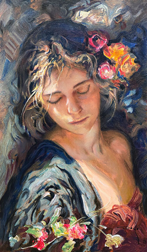 Impressionistic Portrait Painting of a Female