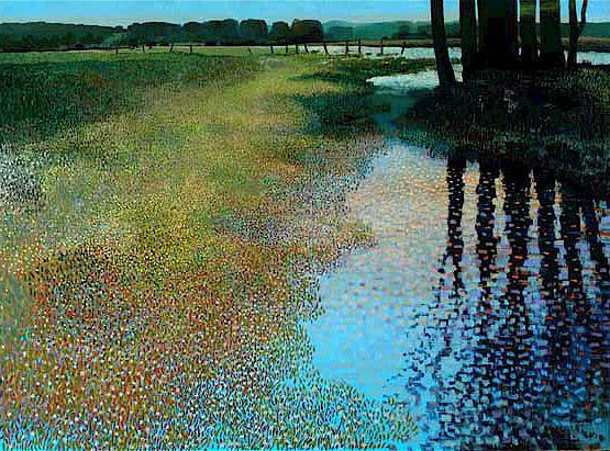 "Spring Reflections by Ton Dubbeldam at Art Leaders Gallery, voted ""Michigan's Best Fine Art Gallery"" is located in the heart of West Bloomfield. This full service fine art gallery is the destination for all your art and custom picture framing needs. Our extensive inventory of art includes styles ranging from contemporary to traditional. The gallery represents international, national, and emerging new talent as well as local Michigan artists."
