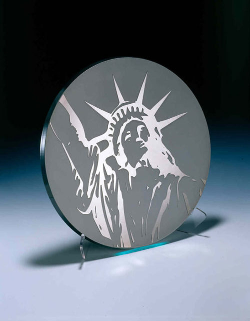 Statue of Liberty Platter by Stephen Schlanser at Art Leaders Gallery - Michigan's Finest Art Gallery