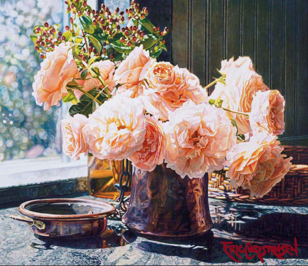 Susan's Roses by Eric Christensen at Art Leaders Gallery - Michigan's Finest Art Gallery