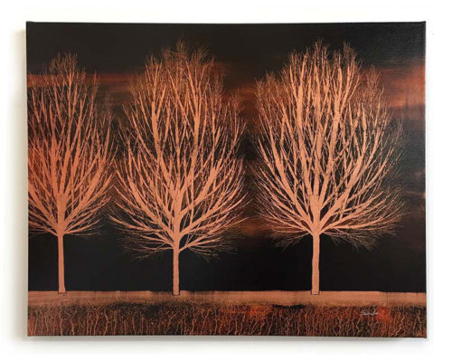 "Tree of Life Trio in Copper by Nakisa Seika at Art Leaders Gallery, voted ""Michigan's Best Fine Art Gallery"" is located in the heart of West Bloomfield. This full service fine art gallery is the destination for all your art and custom picture framing needs. Our extensive inventory of art includes styles ranging from contemporary to traditional. The gallery represents international, national, and emerging new talent as well as local Michigan artists."